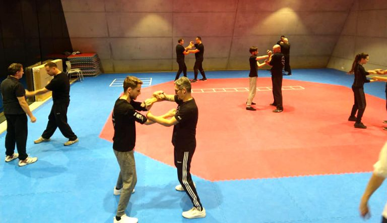 Ving Tsun training in de topsportschool
