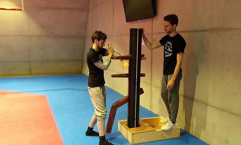 Wooden dummy om Ving Tsun te oefenen